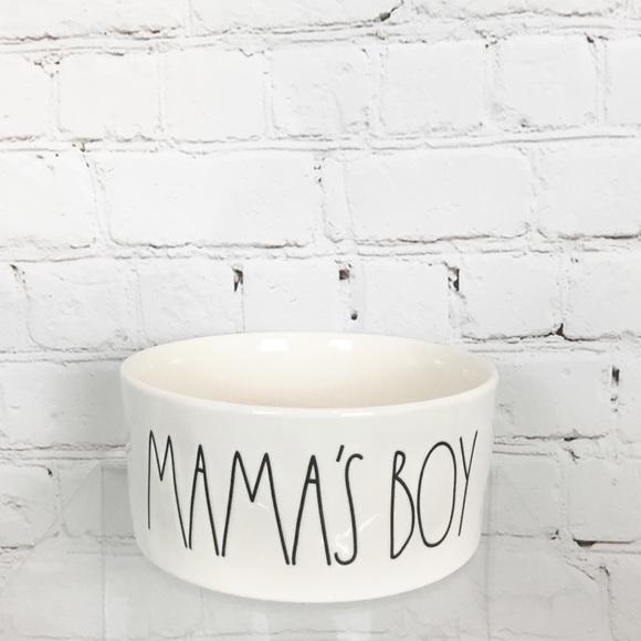 "Rae Dunn ""MAMA'S BOY"" pet dish bowl"